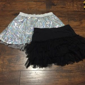 Girls 14 Justice Skirt Lot